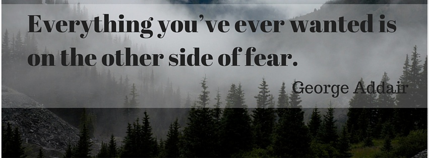 Everything You've ever wanted is on the other side of fear. ~ George Addair
