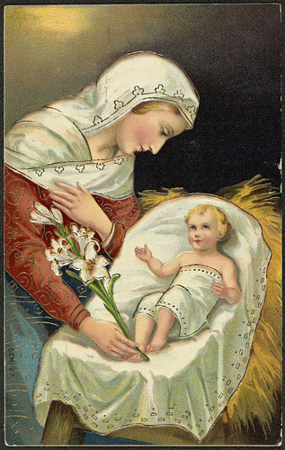 The first Christmas - Mary and baby Jesus.
