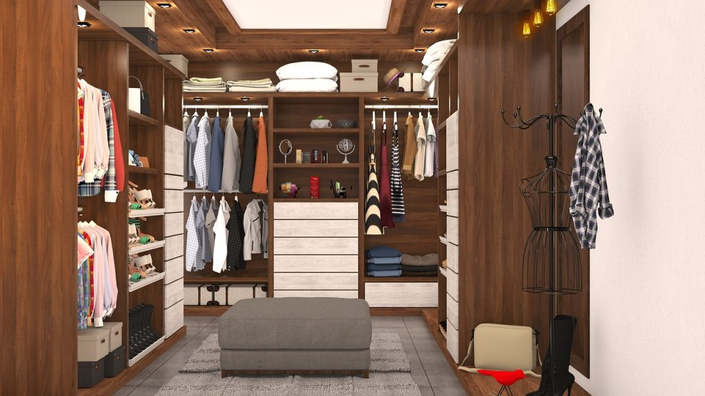Homes - Clothes Cabinet Interior Sofa