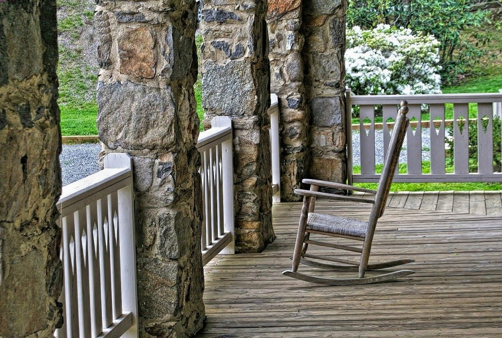 Homes - Porch Rocking Chair Wood Relax