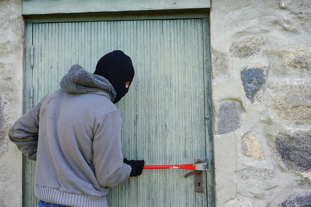 Thief Burglary Break Into Balaclava