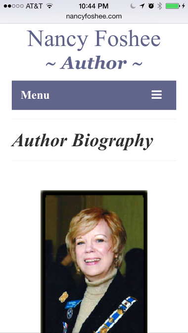 Nancy Foshee Website - Phone View