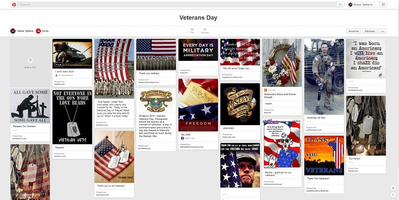 Honor Sphere Veterans Day Board
