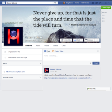 Honor Sphere Facebook Business Page