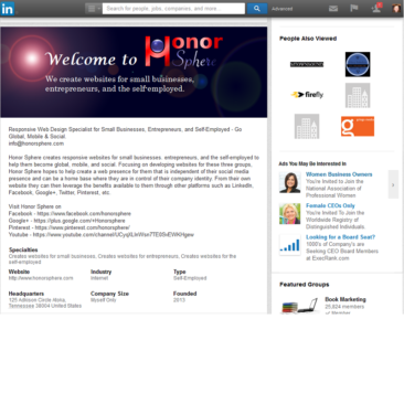 Honor Sphere LinkedIn Business Page